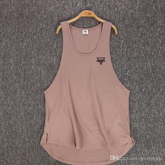 NUEVO Chaleco deportivo Moda coreana impresa puro gimnasio chaleco de algodón con parte inferior del cuerpo camisa deportiva Deportes fitness sin mangas camiseta