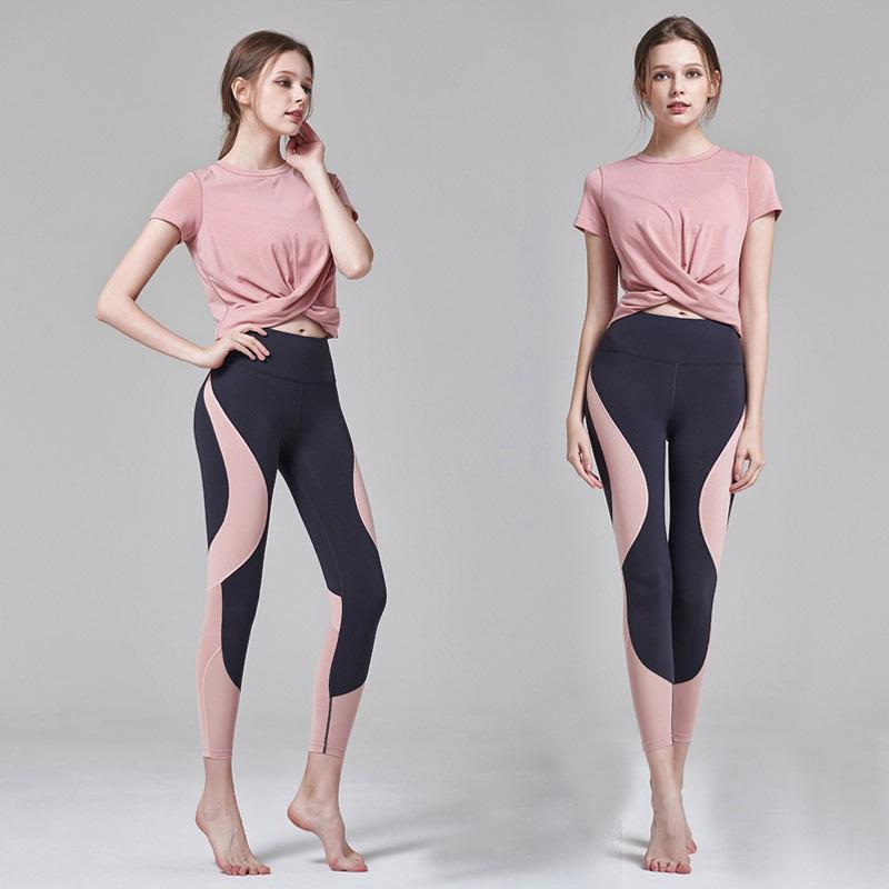السيدات اليوغا الملابس اللياقة البدنية الرياضية سروال بدلة رياضية تجمع الوركين الملابس الداخلية تشغيل قدم السراويل لياقة بدنية جمع الملابس الداخلية المهنية