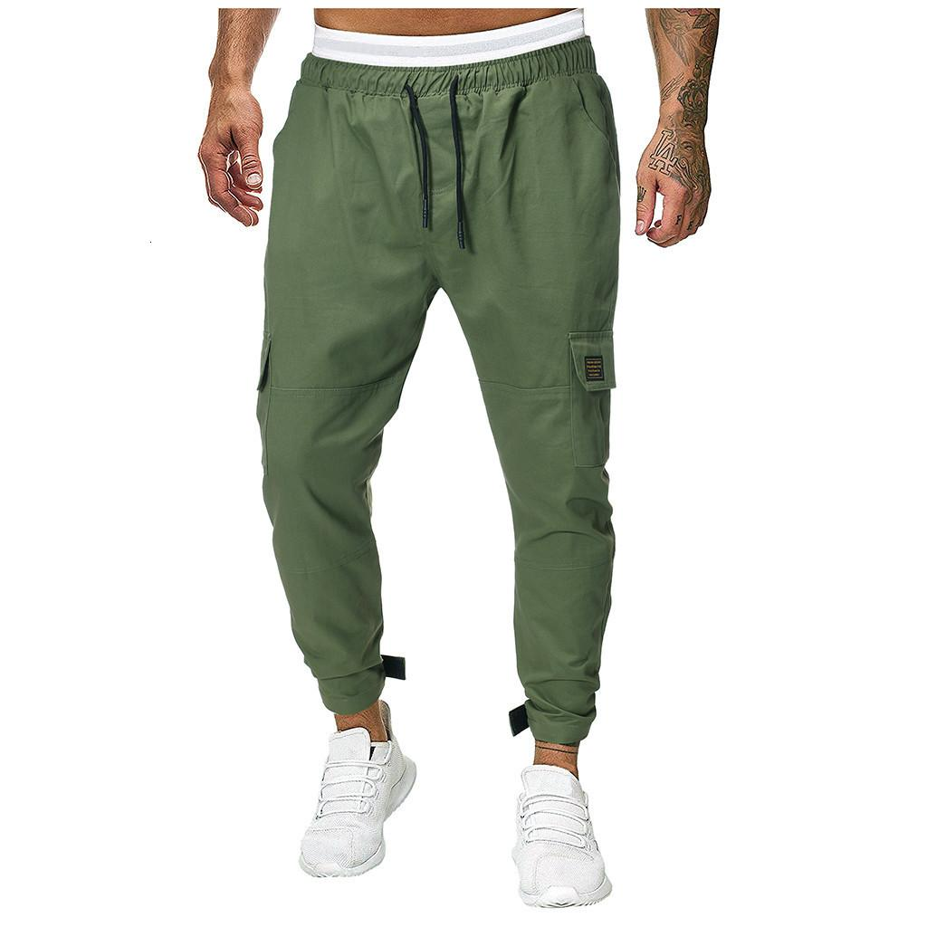 Men Joggers Sweatpants Men's JoggerTrouser Men Splicing Pure Color Overalls Casual Pocket Sport Work Casual Trouser Pants M-3XL