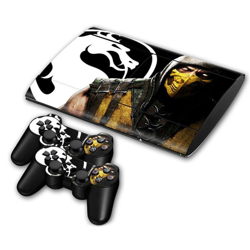 Mortal Kombat de la piel de la etiqueta engomada para la PS3 Slim 4000 PlayStation 3 Consola y mandos para PS3 Pieles pegatina de vinilo