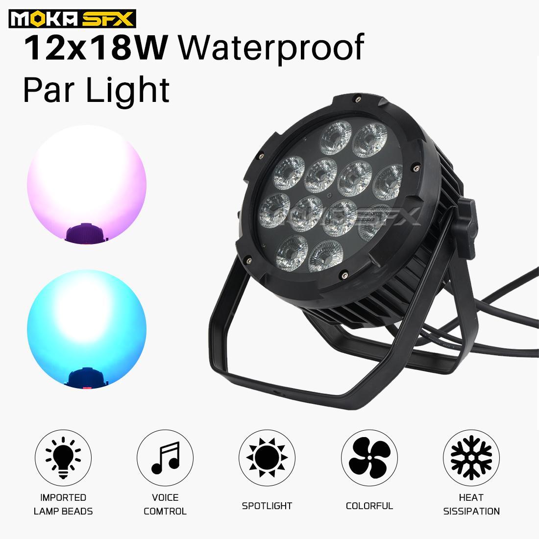 ماء الخفيفة الاسمية 12x18W LED ضوء المرحلة بار في الهواء الطلق الاسمية يمكن IP65 RGBWA + UV 6in1 لحزب مسرح الأحداث المرحلة معدات الإضاءة