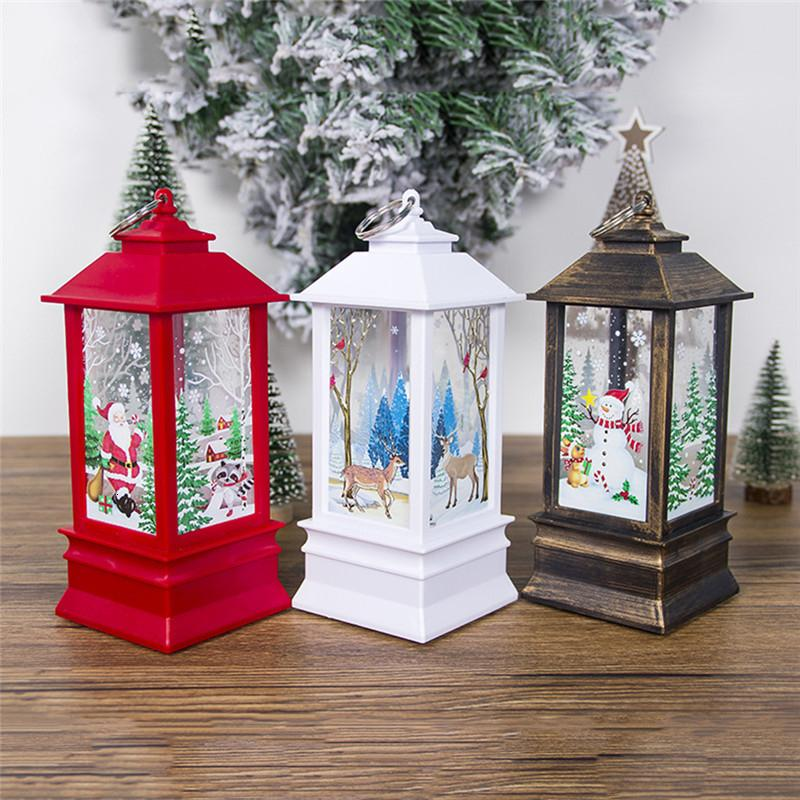 Decoração de Natal portáteis Luzes de vento árvore de Natal Pingentes Decoração Ano Novo Para Casa T191017