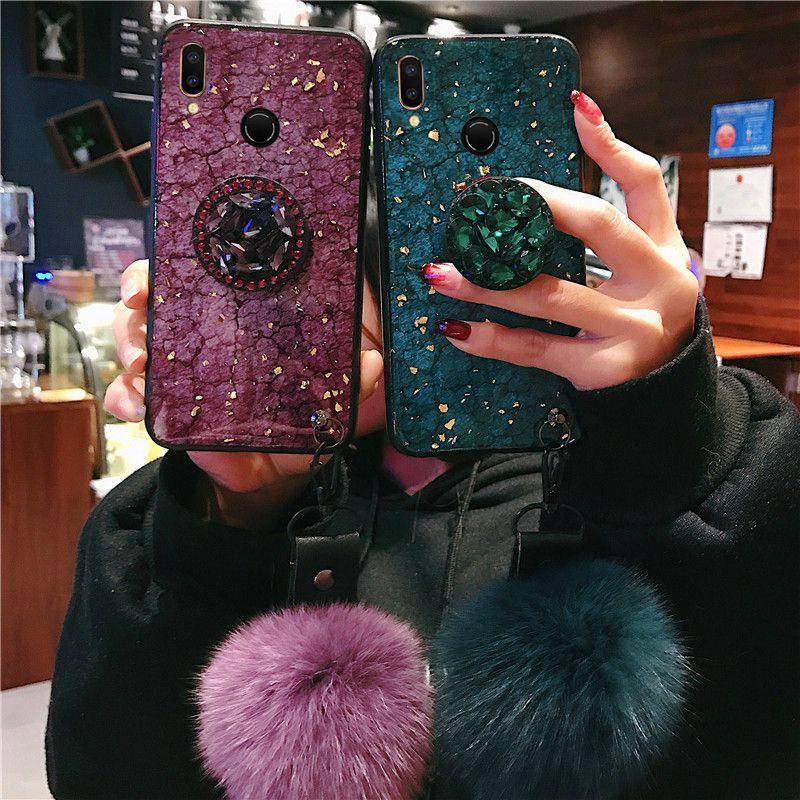 Luxury Diamond Marble Glitter Case per Huawei Mate 20 Pro 10 Lite 20 X Custodia per Huawei P20 Lite Pro Nova 3 3i P Smart Plus Cover