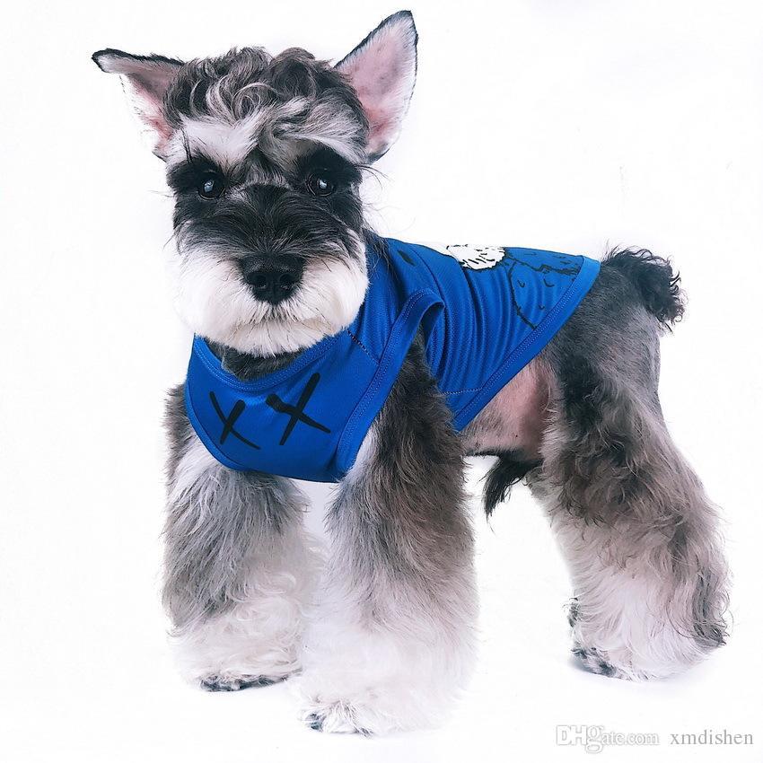 Gilet per cani traspiranti in cotone con stampa di cartone animato in stile unico di design di primavera ed estate Abbigliamento per animali domestici di alta qualità
