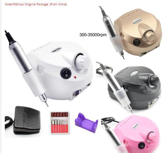 35000RPM Pro Electric Nail Drill машина электрической маникюрный машин Сверло Аксессуар Педикюр Kit Nail Drill Bit File Nail Tools