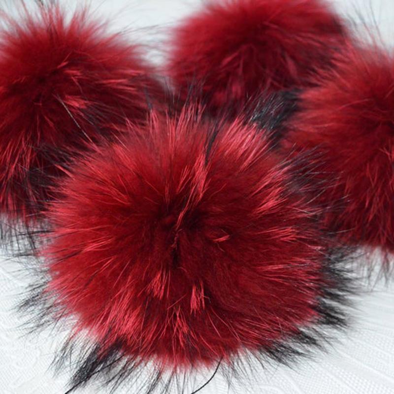 10 pcs / lot DIY Big Size 15 sm DI Diy Real Fur Pompoms Racon Fur Pom Poms Balls Natural Pompon For Hats Hats Bags Shoes Scarves