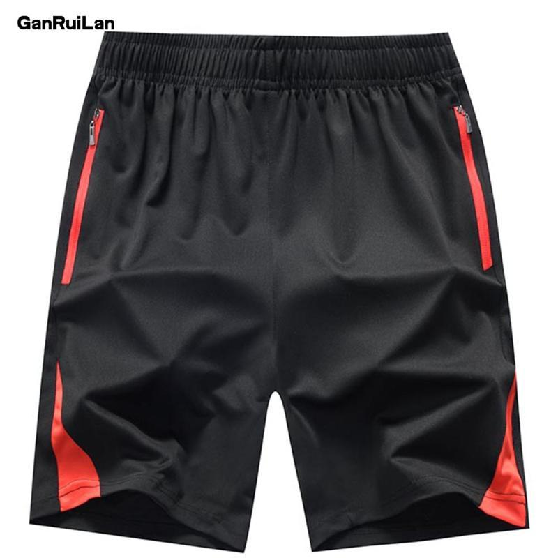2020 Homens Verão Casual Shorts Men Marca New Board Shorts WaterProof Sólidos respirável elástico na cintura Moda Curto Casual