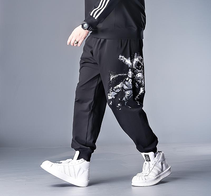 6XL 7XL 5XL XXXXL Plus Hip Hop de los hombres pantalones remiendo bolsillo lateral 2020 Nueva flojo Joggers Hombres pantalón Longitud