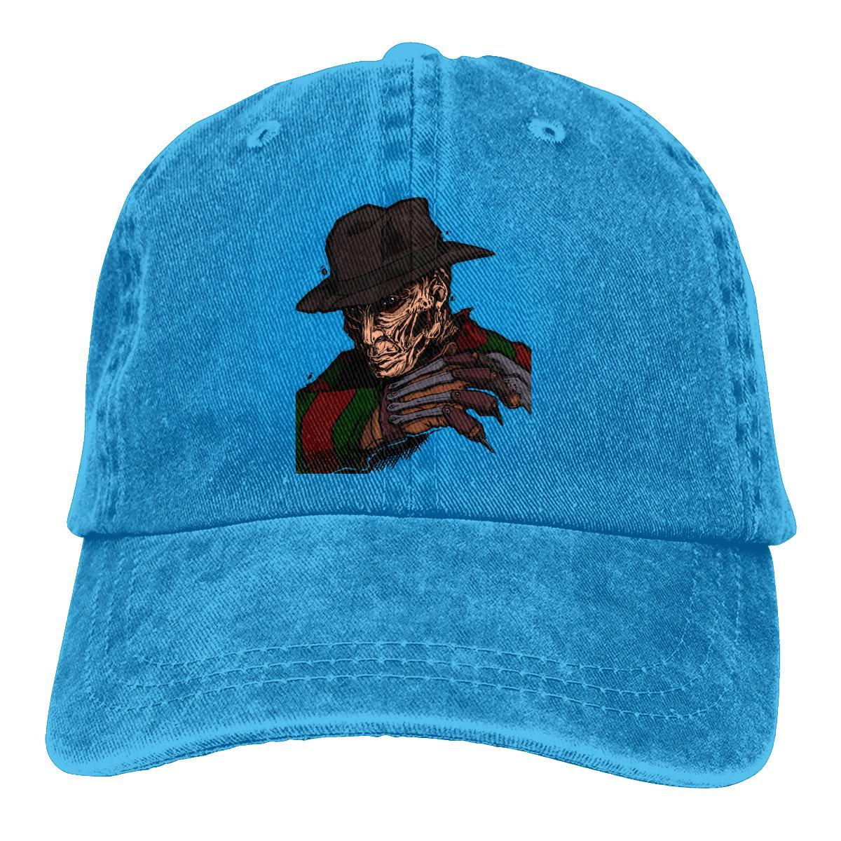 NOISYDESIGNS 2019 Vente chaude Chapeau Hommes Fredy Dessin Cap Hip Hop Western pare-soleil lumière Gorro Hombre Impression 3D Chapeau