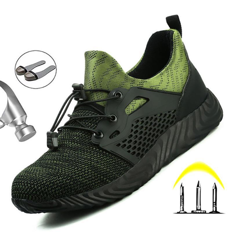 Botas de trabajo de seguridad de acero ligero Zapatos de seguridad del dedo del pie de los hombres indestructibles botas de los zapatos de trabajo Botas de seguridad transpirable envío gratuito