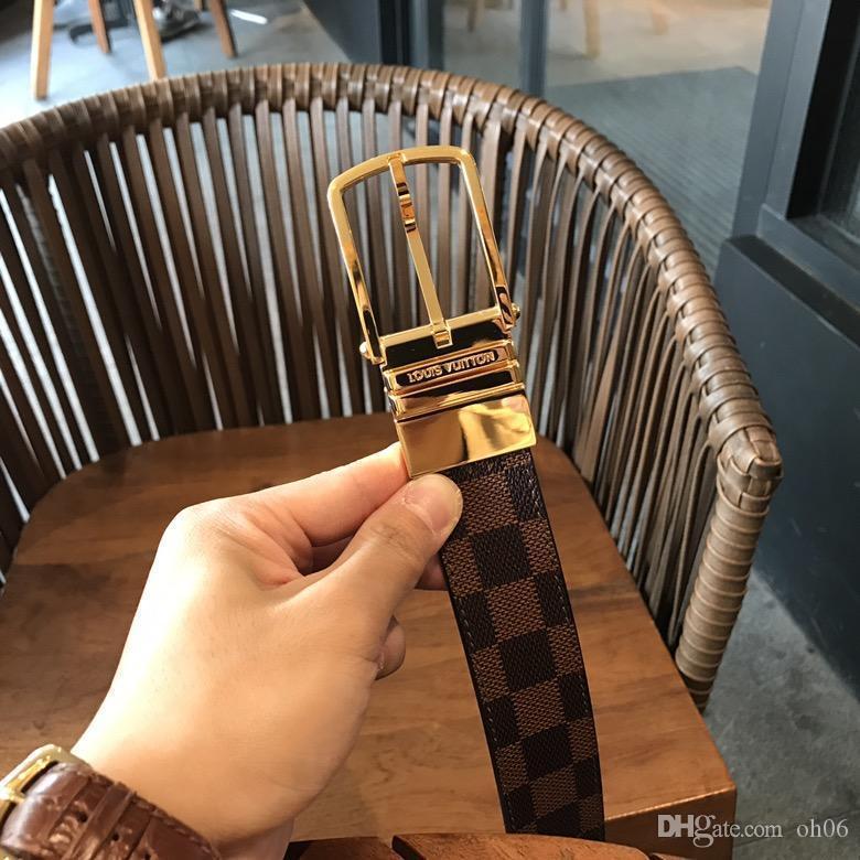 2020Design cinghia degli uomini e le donne cinture moda di lusso Genuine Leather Belt Marca vita Oro Argento Nero fibbia