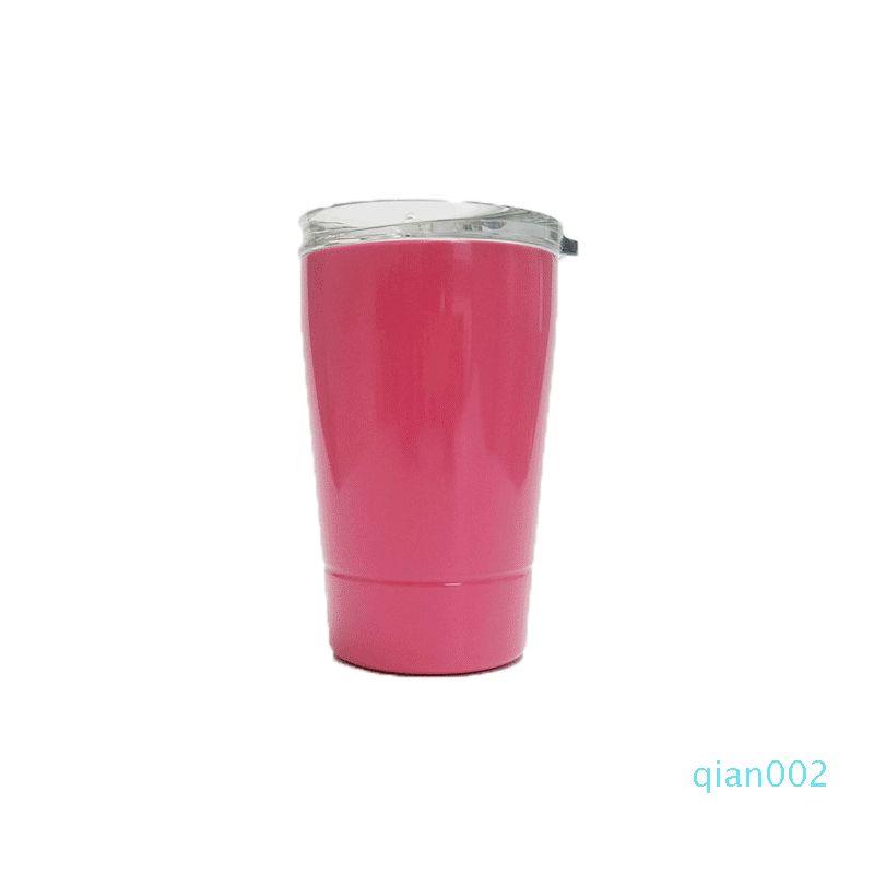 Acciaio inossidabile tazza del vino Bicchieri 12 once Kid tazza del vino bicchieri di birra Tazze vino dell'acciaio inossidabile di vetro tazze di caffè con il coperchio con paglia