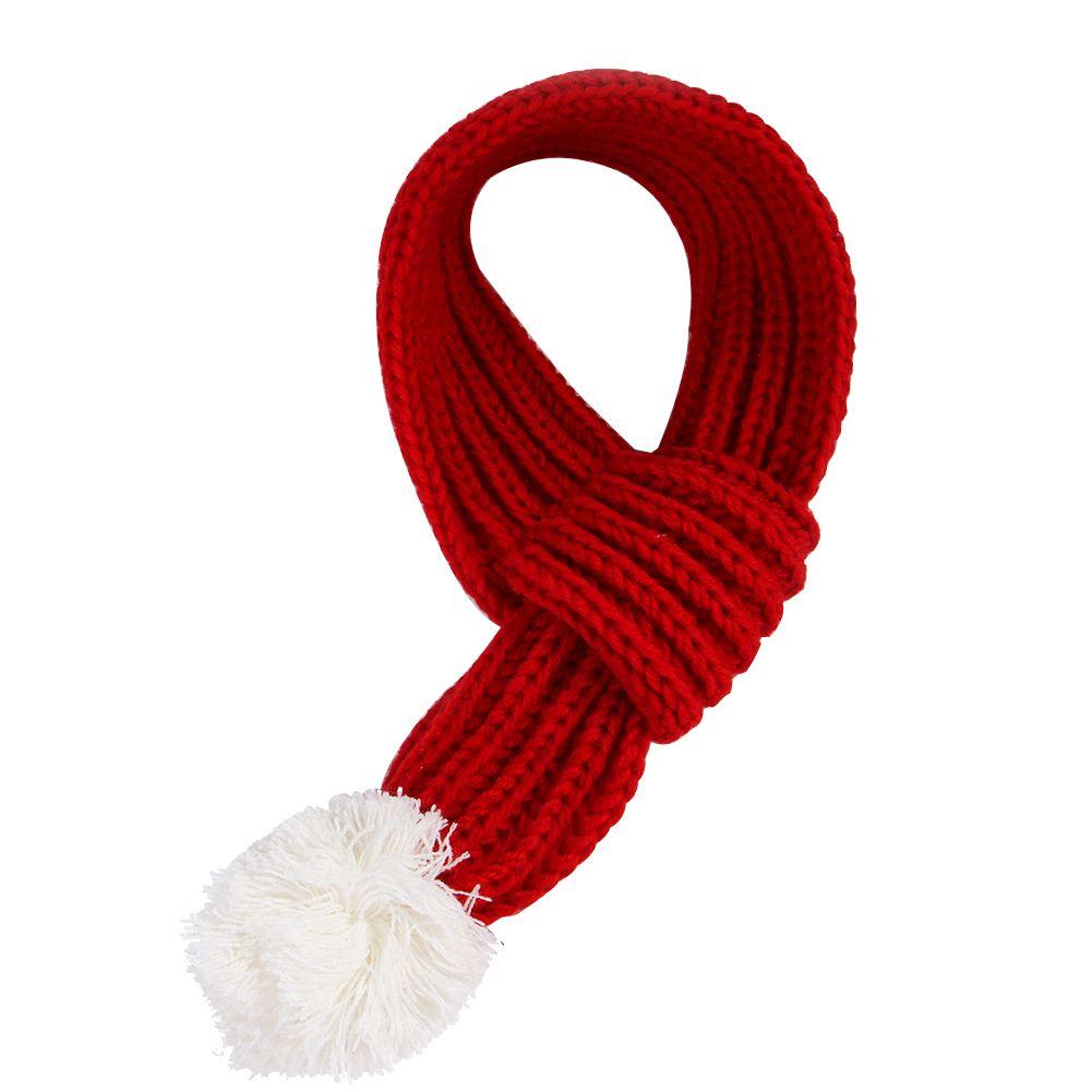 Douce Party cadeau Accueil Toilettage Accessoires Echarpe cou chaud d'hiver Chien Chat épaissie Animaux Décoration de Noël Matériel de couture