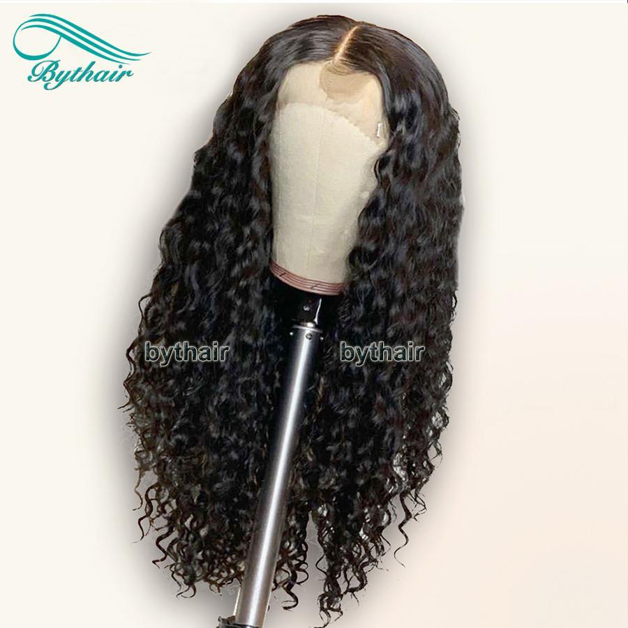 Bythair 360 Spitze-Front-Menschenhaar-Perücken für Frauen mit Baby-Haare Gebleichte Knoten brasilianische Remy Haar-volle Spitze-Perücken Pre-Zupforchester