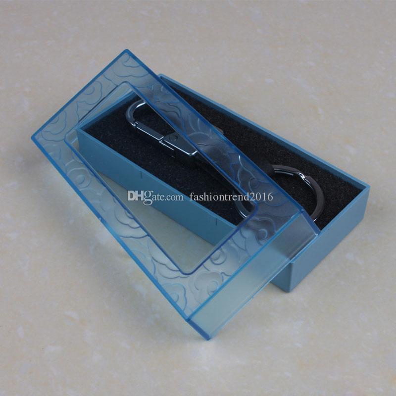 Очистить Пластиковые ящики для упаковки Keychain кольца для ключей Transparent Подарочных коробок витрины