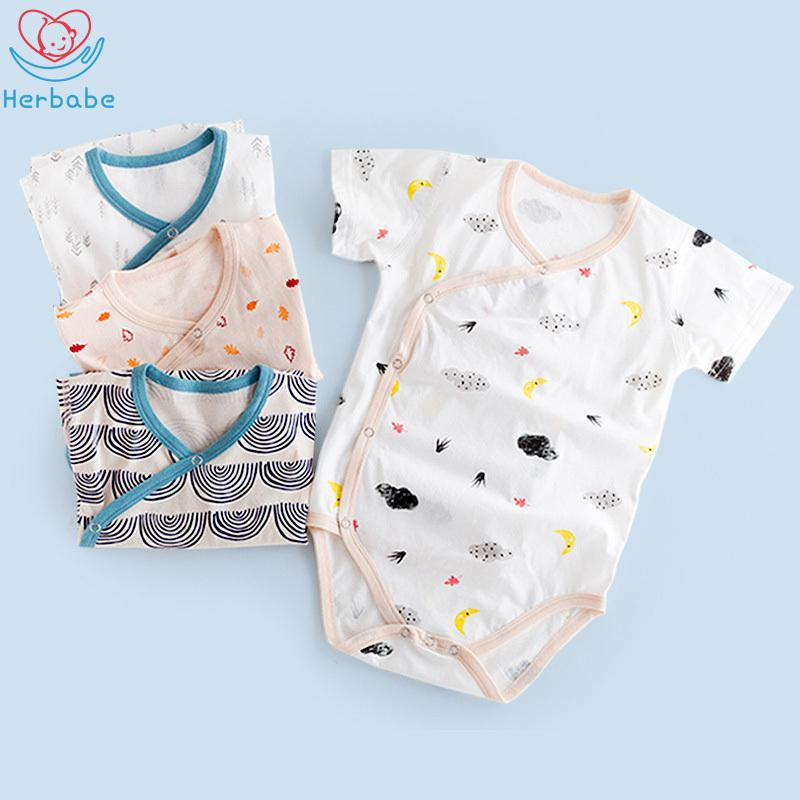 Herbabe Summer Baby Romper New Born Baby Girl Clothes Boys Onesie Clothing Cotton Rompers Girls Jumpsuit Outfit Ropa