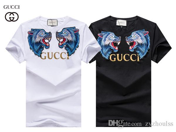 # 2916 Yaz Erkek Tişört Siyah Beyaz Moda Letter T Shirt Mens lüks Casual Kısa Kollu Tişört Erkek Sokak Baskılı Tees Tops