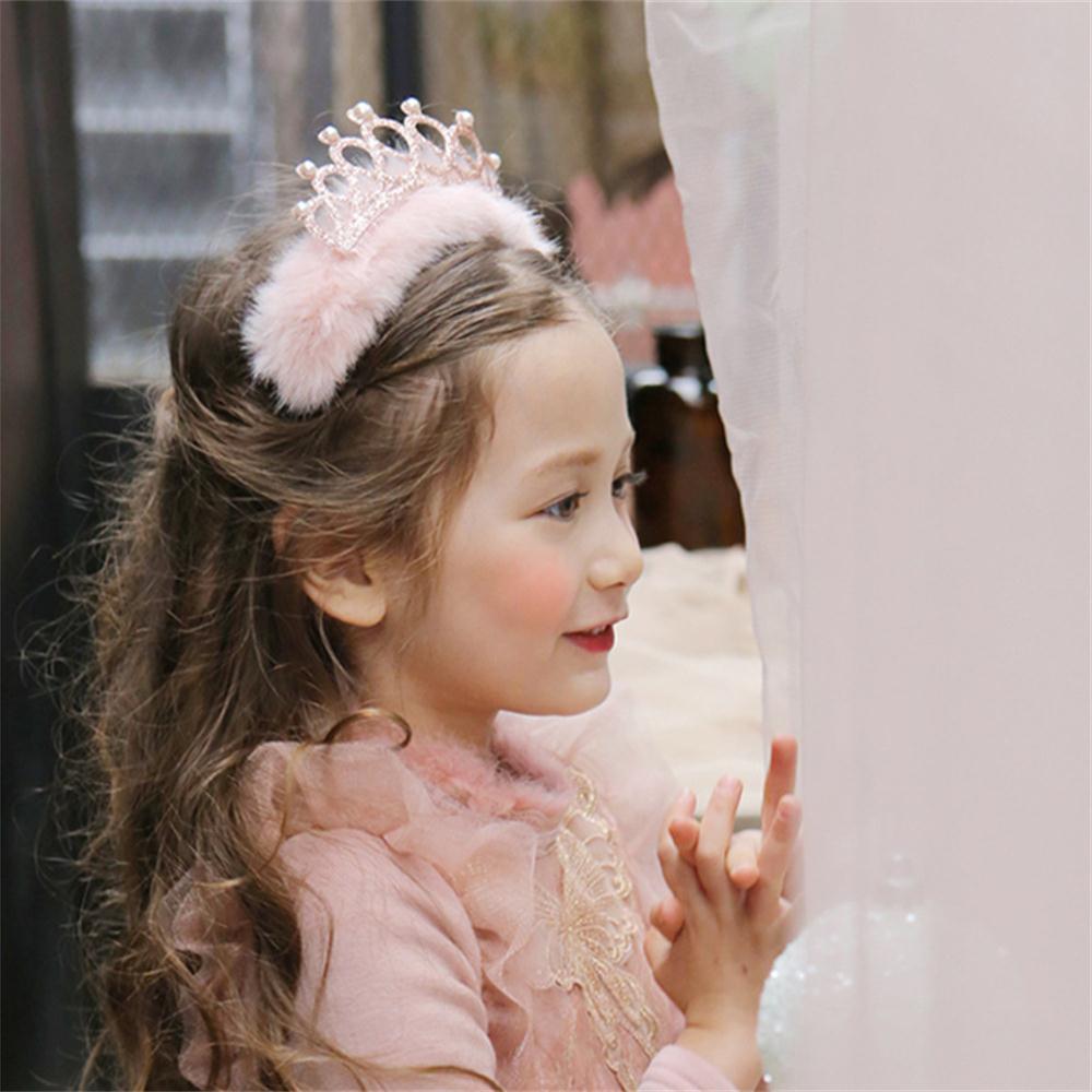 1PC reizende Kind-Mädchen-Geschenk-Festival-Party-Kronen-Stirnband-Haar-Band Kopfbedeckung Bogen-Perlen-Haar-Band-Weihnachten Geburtstag Kopfbedeckung New
