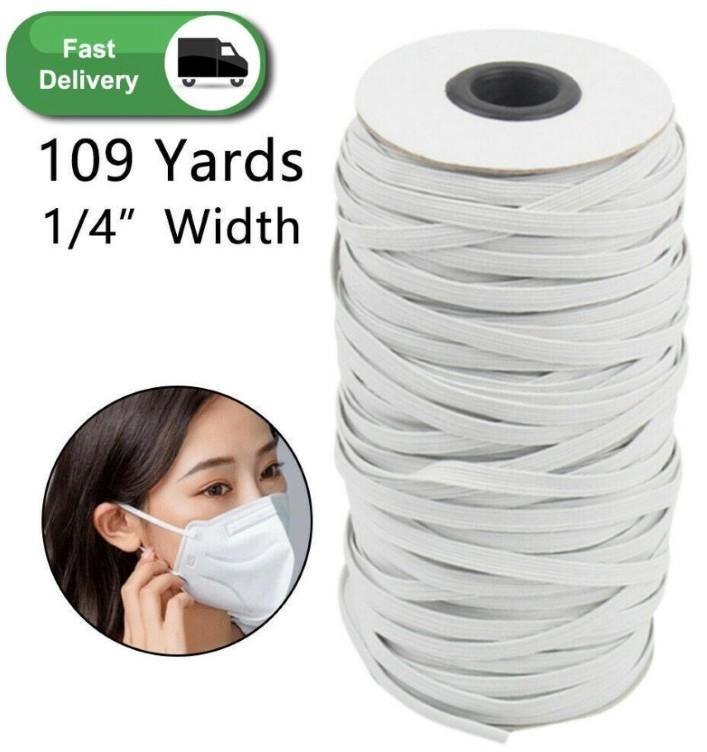 Premium di alta qualità 109 Yards Nero Heavy Stretch Knit della fascia elastica elastico corda corda elastica per Maschera fai da te Arti e Mestieri FY7005