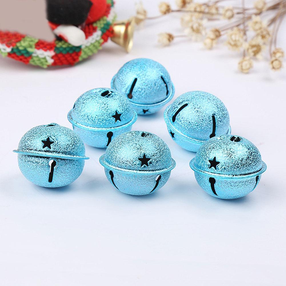 12pcs Navidad Bell que cuelga de fiesta Dull pulido colgante cadena de decoración Crafts Galvanizado clave para mascotas