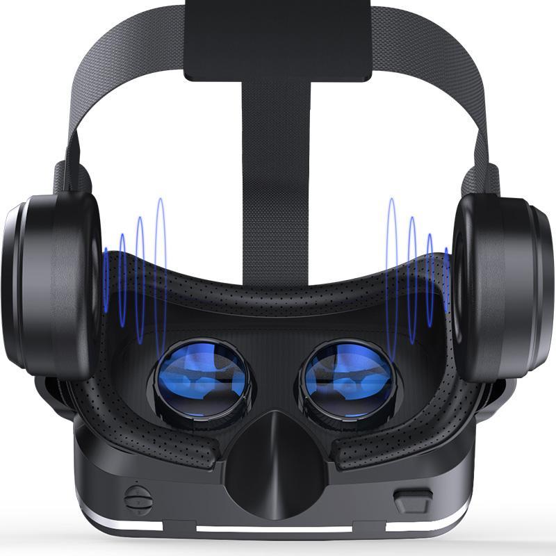 NOVITÀ Casque VR Helmet VR Occhiali per realtà virtuale 3 D Occhiali 3D per occhiali con auricolare per iPhone Smartphone Android Smart Phone Stereo