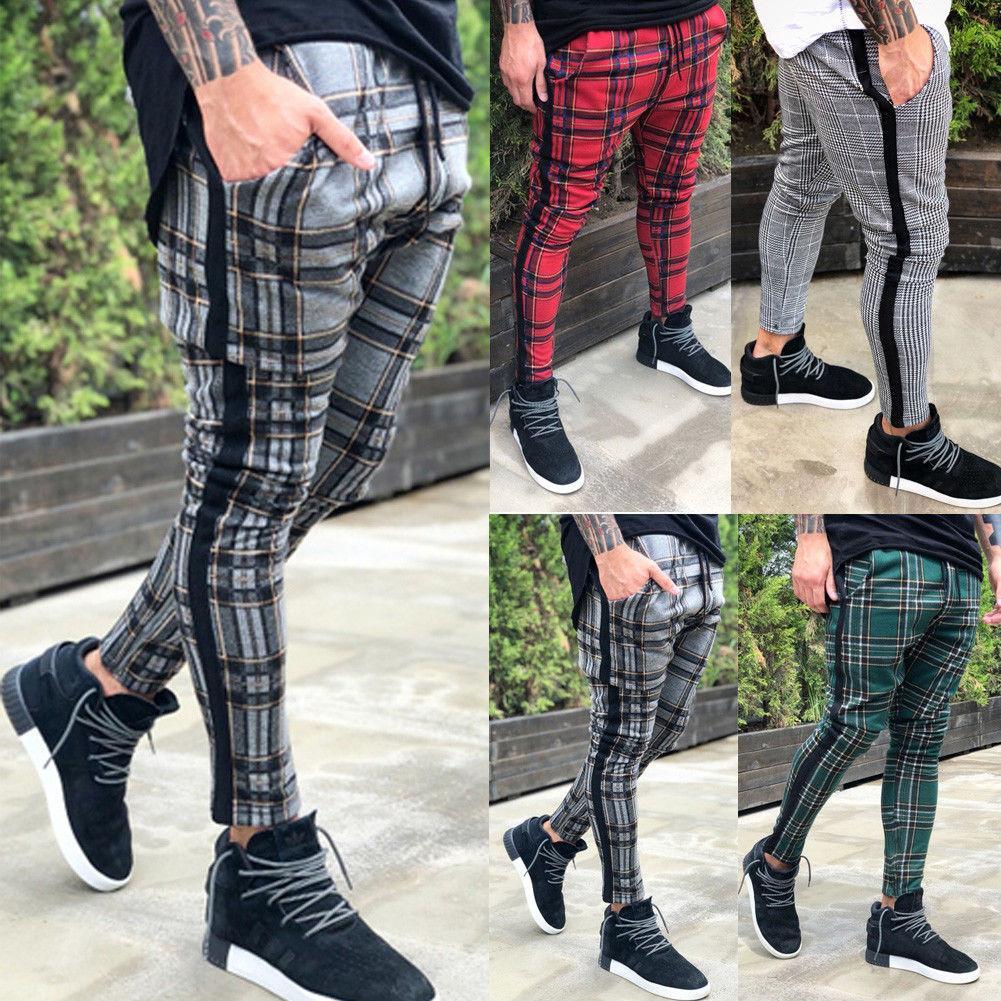 Hip Hop Hommes Skinny jogging Bas Joggers sport Pantalons Gym Courir Pantalons Slim longues Pantalons pour homme