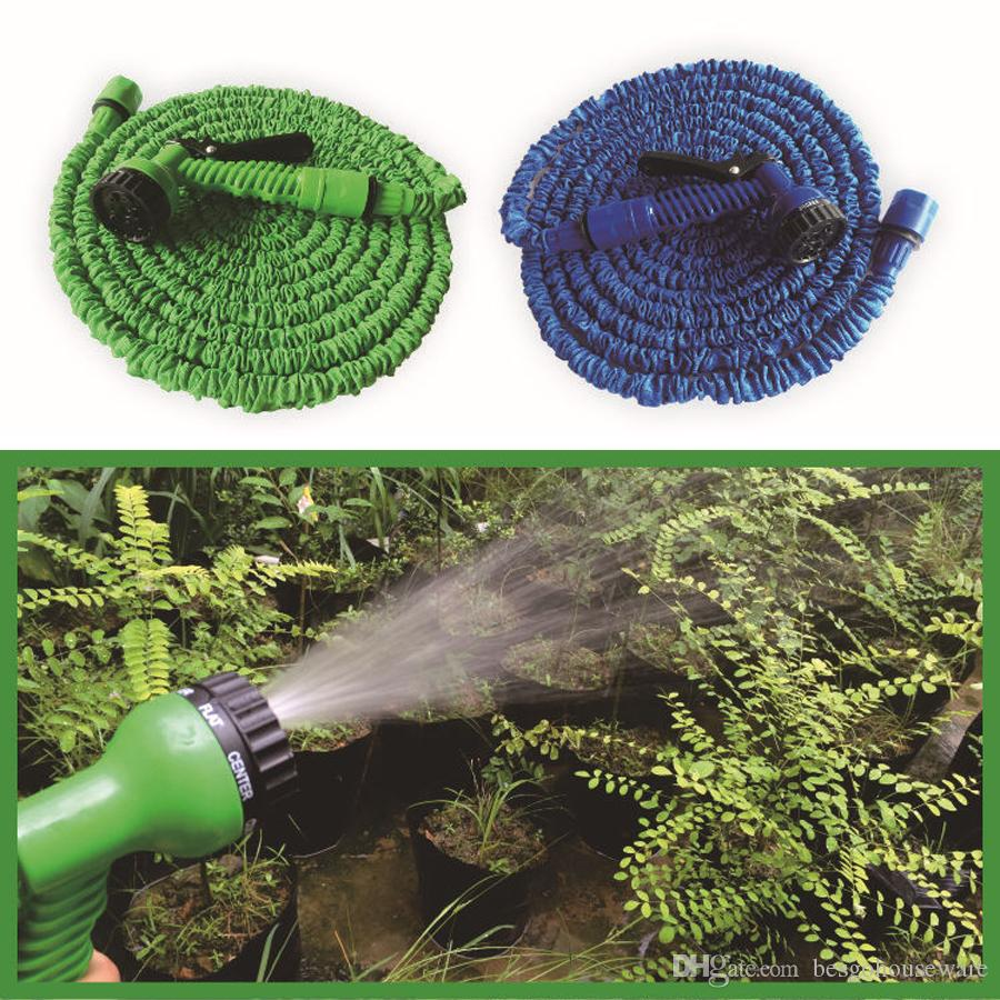 High Quality Retractable 50FT Water Hose Set With Multi-function Water Gun Easy Use House Garden Washing Expandable Hose Set BH0755-1 TQQ