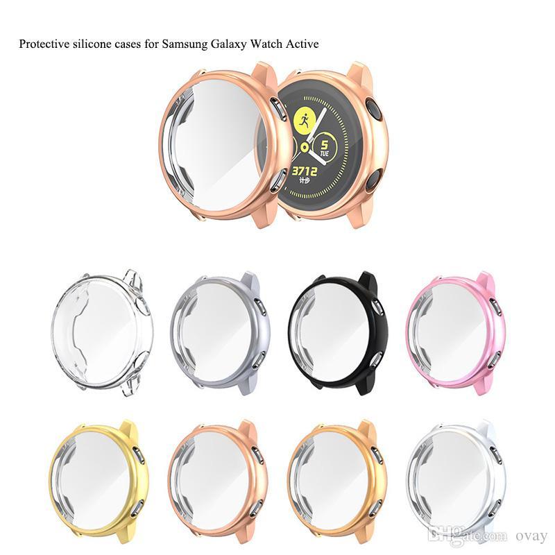 Schutzsilikonkasten 50pcs für aktive Fälle der Samsung-Galaxieuhr Schutz-TPU-Abdeckung 360 deckt estuches carcasas ab