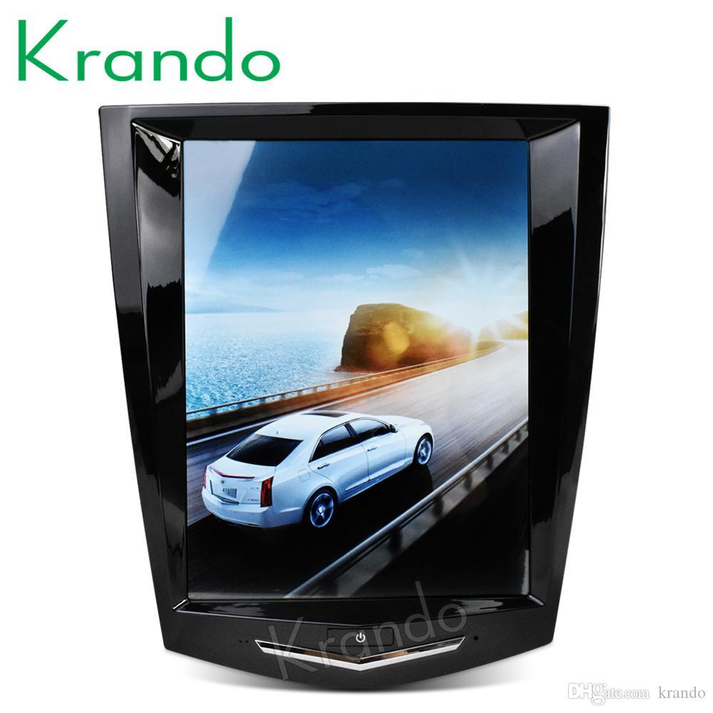 """Krando Android 8.1 10.4"""" Tesla vertical de la pantalla del coche DVD GPS de navegación de radio para la radio Cadillac ATS XTS CTS SRX jugador sistema multimedia"""