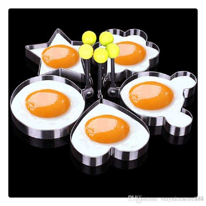 Fried Egg Pancake Shape Kitchen Tool Stainless Steel Shape Mold Kitchen Rings Heart Hot Sale