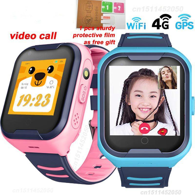 4G Network A36E Wifi GPS SOS Smart Watch Kids Video call IP67 waterproof Alarm Clock Camera Baby Watch VS Q50 Q90