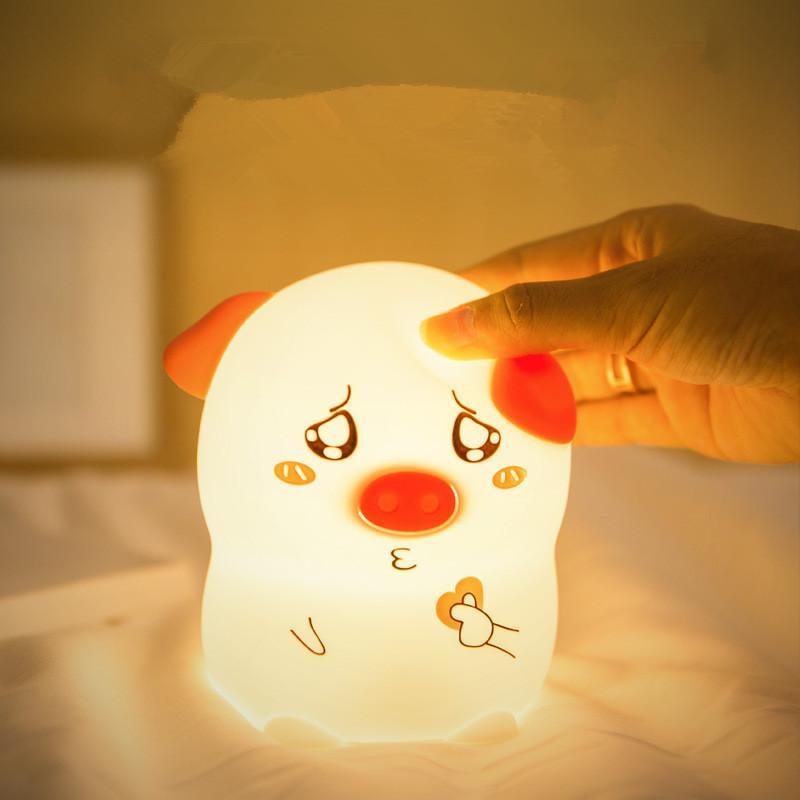 Schwein Silikon Nachtlicht der neuen Art Kinder pat Atmosphäre Lampe mit Schlaf Lampe Romantisches Geschenk dhl frei