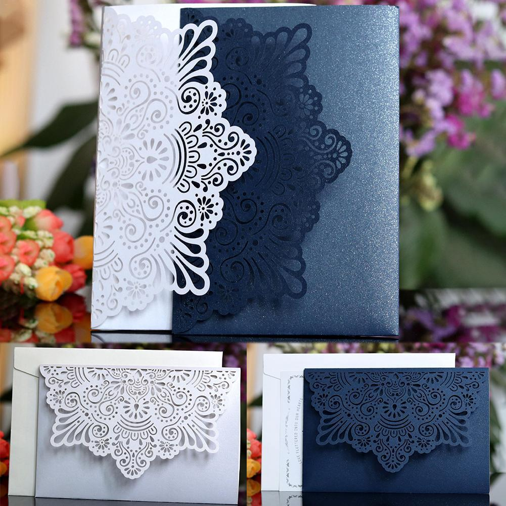 european style lace wedding invitations cards laser cut