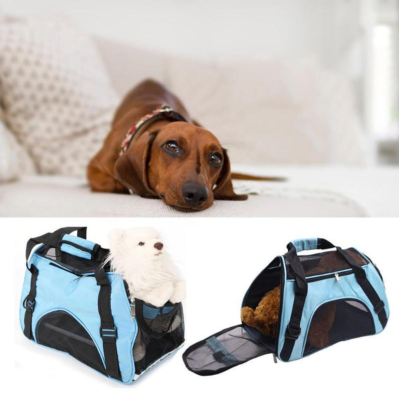 Foldable Puppy Handbag Breathable Dog Carrier Bags Portable Oxford Pet Bag for Puppy Kittens Travel Supplies Dog Accessories