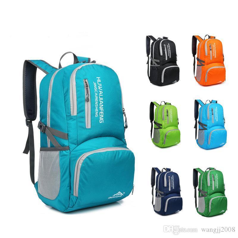 Sac à dos pliable sac à dos pour ordinateur portable Voyage imperméable Rucksack pour les hommes et les femmes Outdoor grand sac de Voyage d'achats Envoi gratuit nouvelle