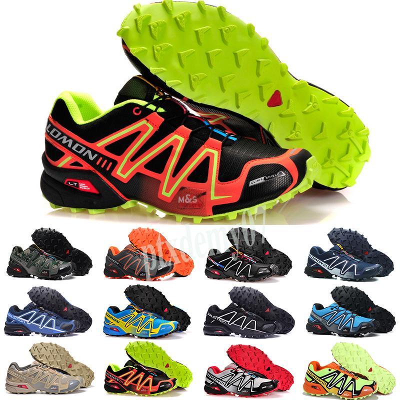 Salomon Speed Cross 3 4 2019 Erkekler Ayakkabı zapatos hombre Hız Çapraz 3CS III Sport Sneakers Erkek Siyah açık atletik Speedcross Solomon çalıştıran Ayakkabı P07