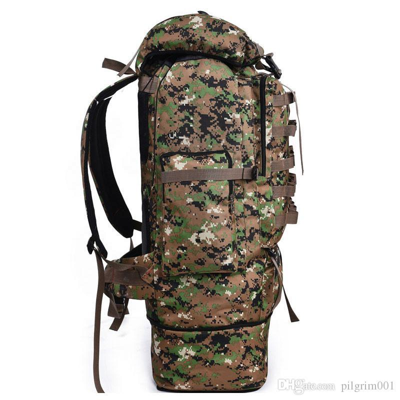 Hiking Backpack Pack Bag Rucksack Camouflage Army Camo Military Large Big Travel