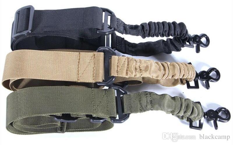 QD быстросъемный Tactical 1 точка Регулируемой Банджи Sling Side-релиз ремень Система стрелковой Gun Airsoft Охота