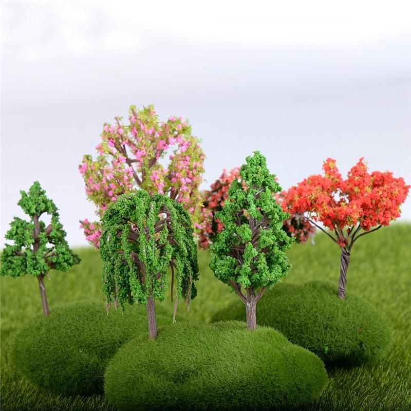 새로운 미니 나무 요정 정원 장식 미니어처 마이크로 풍경 수 지 공예 분재 입상 정원 테라리움 16 스타일