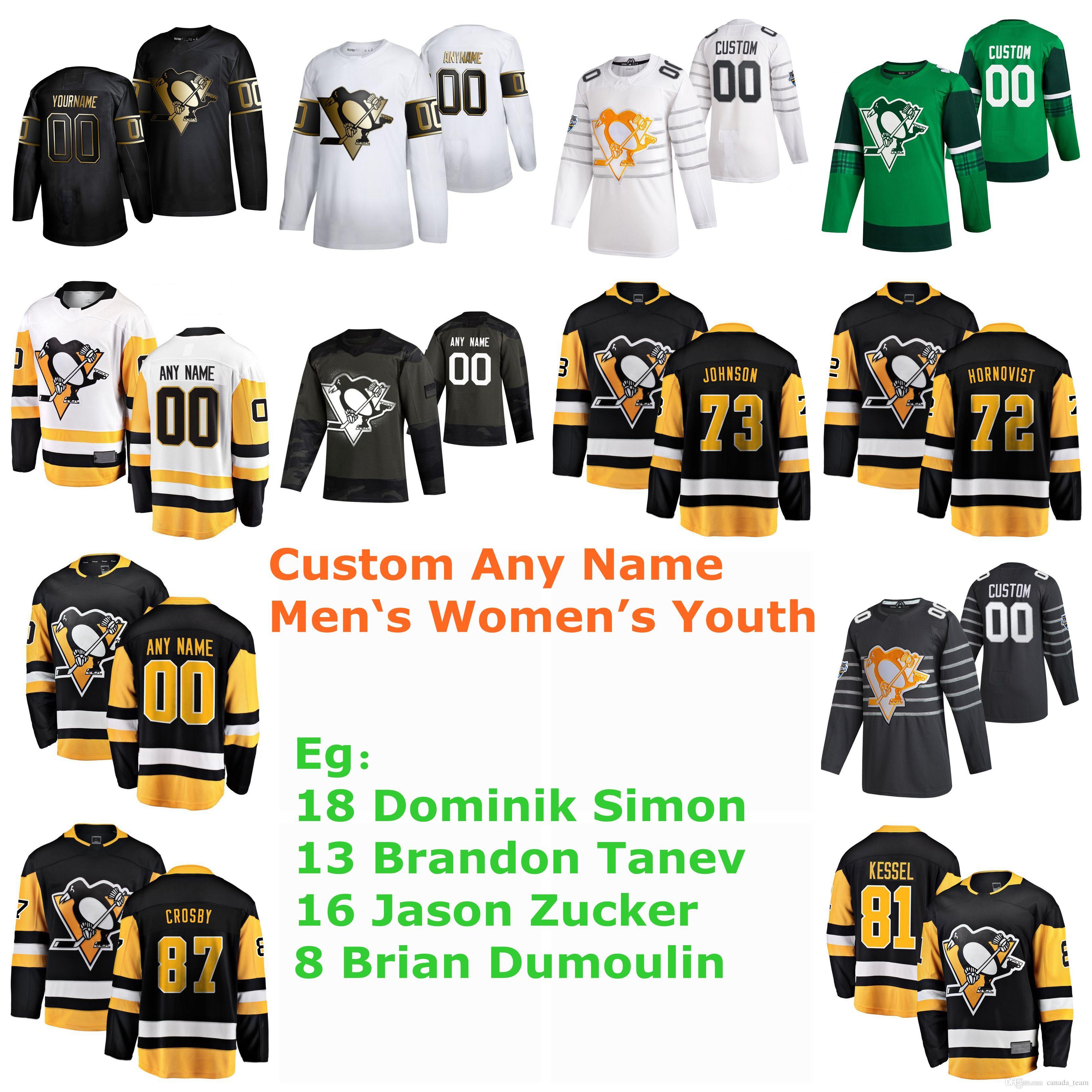 S-6XL Pittsburgh Penguins 2020 All-Star Hockey Jerseys 18 Dominik Simon Jersey 13 Brandon Tanev Jason Zucker Brian Dumoulin personalizado costurado
