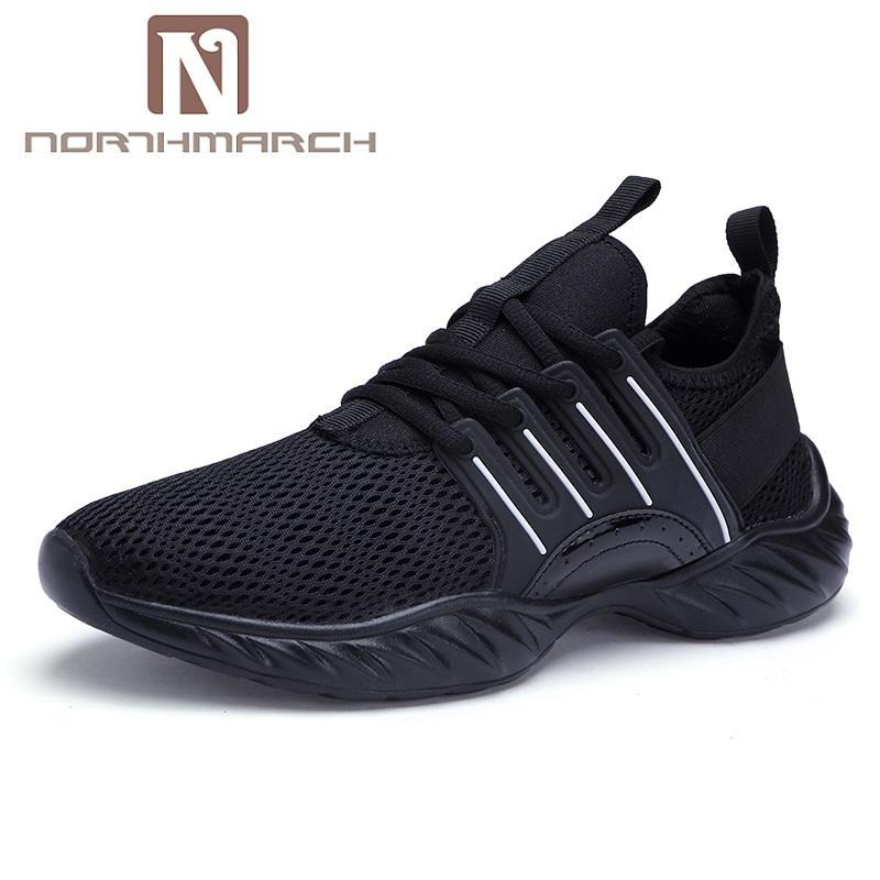NORTHMARCH été Hommes Chaussures Respirant Chaussures Hommes Casual Mode à lacets légère Chaussures de sport pour Flats Zapatillas
