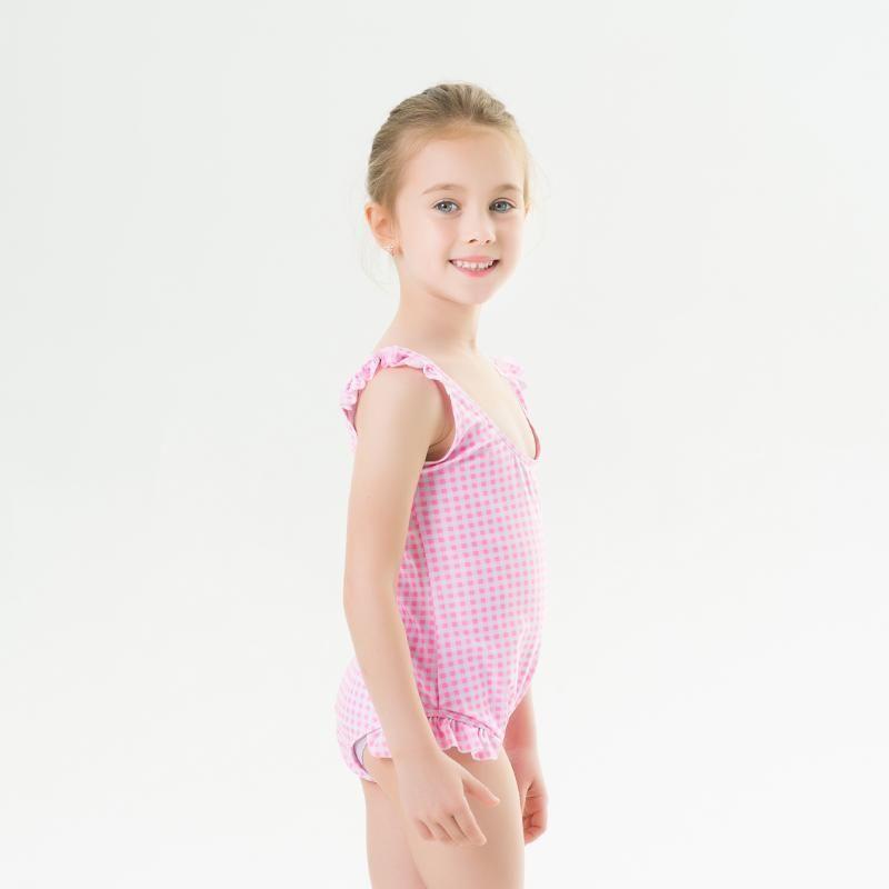 2020 Çocuk Mayo İçin Kızlar One Piece Mayo Geometri fırfır Mayo Mayo Kolsuz Mayo Kız Çocuk yazdır