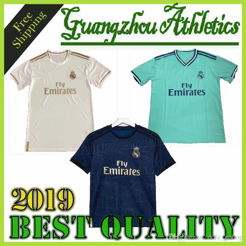 2019 Maillot Vinicius Jr. Real madrid Jersey Benzema ASENSIO 2020 fútbol Fútbol Modric Kroos Sergio Ramos Bale Marcelo Real Madrid Camisetas
