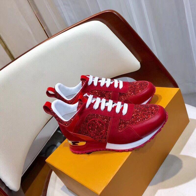 2018 YENI Lüks deri rahat ayakkabılar Kadınlar Tasarımcı sneakers erkek ayakkabı hakiki deri moda Karışık renk orijinal 35-46