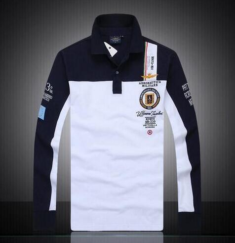 newest 3eea8 8048d 2019 7 Modelle Aeronautica Militare Camisa Masculina Polo Herren Langarm  Poloshirt Marken Air Force One Shark Solide Polo Hemd From Sportcoat,  &Price; ...