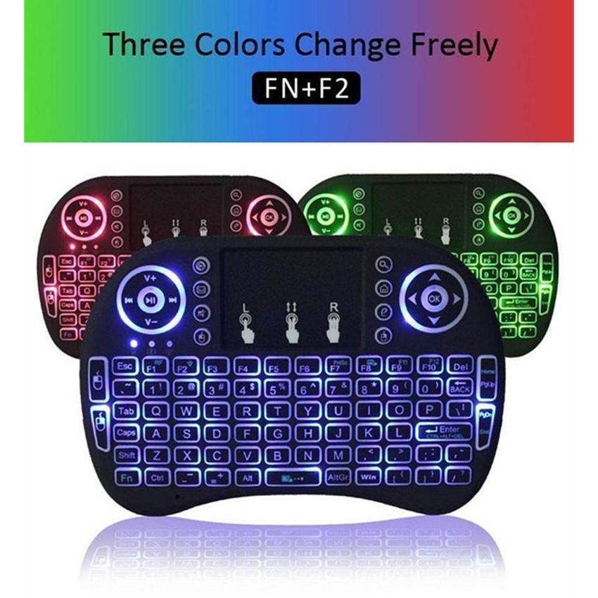 스마트 안드로이드 TV 박스 노트북 태블릿 PC 미니 I8 무선 키보드 2.4G 영어 에어 마우스 키보드 원격 제어 터치 패드
