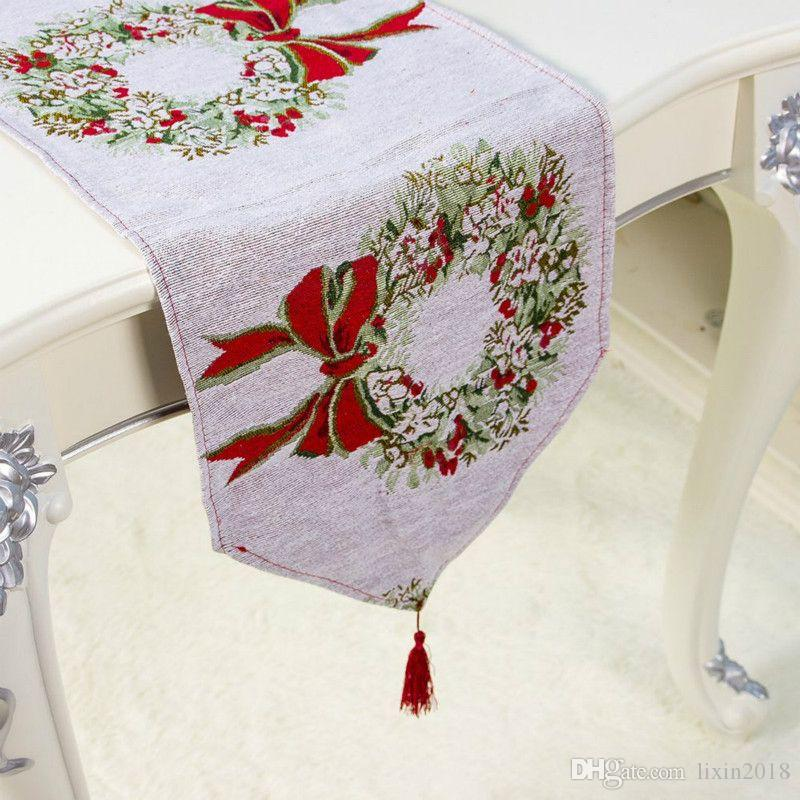 Details about  /Christmas Table Runner Mat Tablecloth Christmas Flag Home Party Decorative