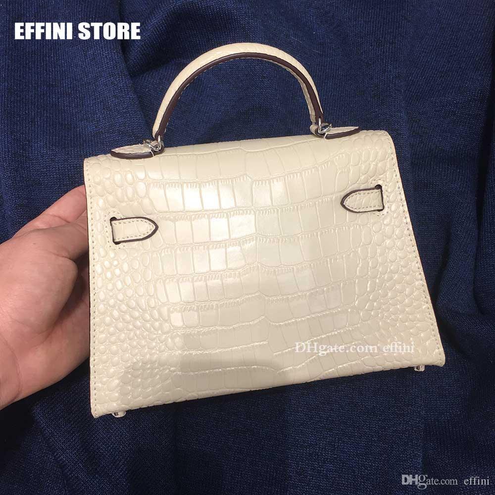 22cm 악어 일반 디자이너 명품 핸드백 가방 여성 브랜드 빈티지 작은 숙녀 핸드 가방 지갑 여성의 클러치 메신저 크로스 바디 백