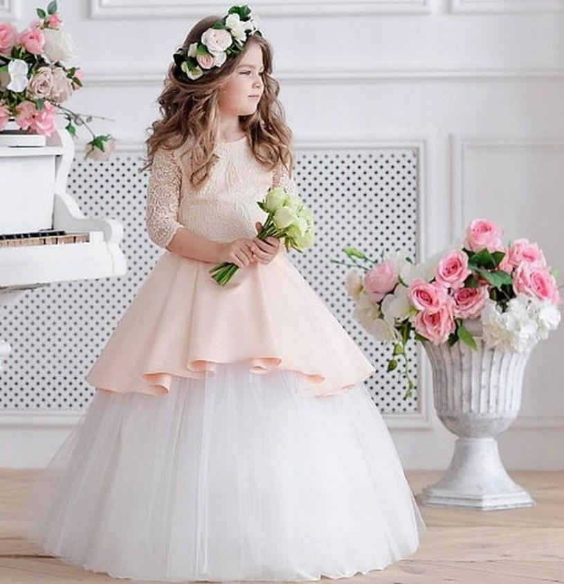 Charming Princess Pageant Flower Girl Dress Bambini Wedding Party Compleanno damigella d'onore Prom Bambini GNA10