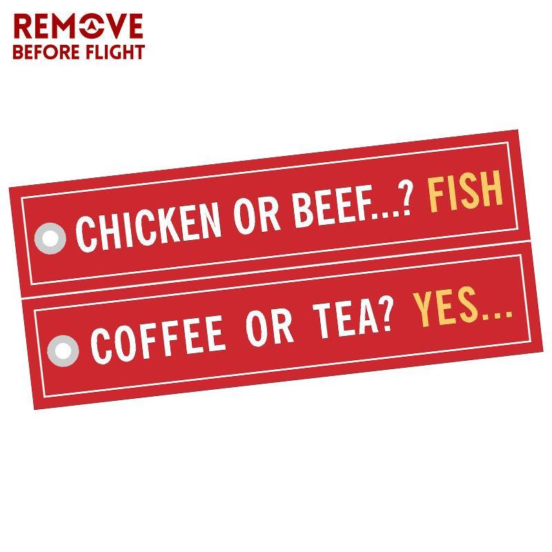 3 unidades / lote de café ou sim chaveiro para carros Bordado frango ou carne Cadeia Peixe chaveiro Bijoux Porte Clef Aviation chave